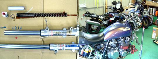|テクノオートサービス バイクの整備・修理 フロントフォーク ...